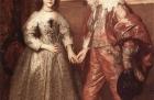 Porträt des Wilhelm von Oranien mit seiner zukünftigen Braut