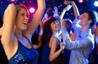 Beautiful girl dancing at a party